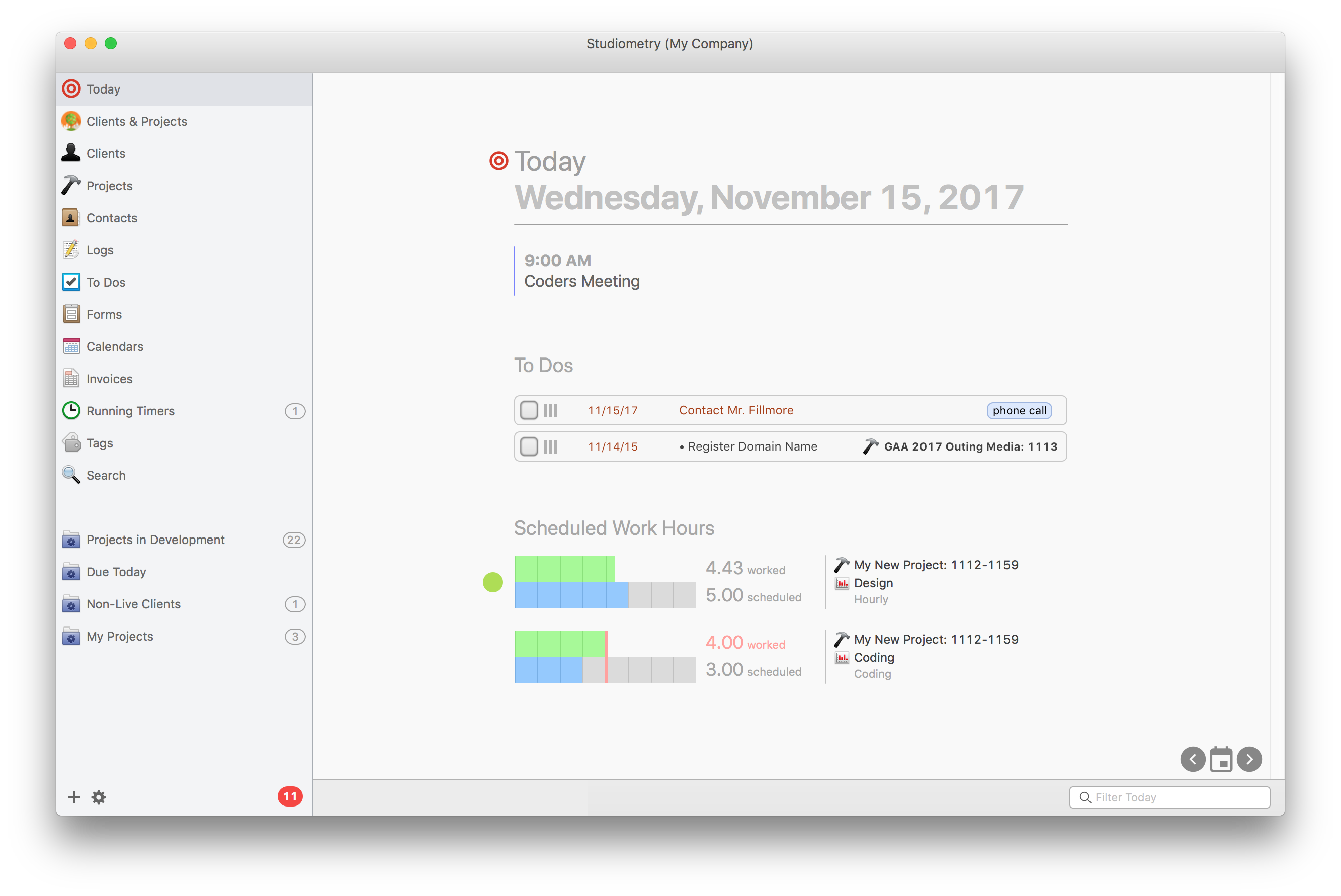 studiometry 14 goes 64 bit adds scheduling today view template