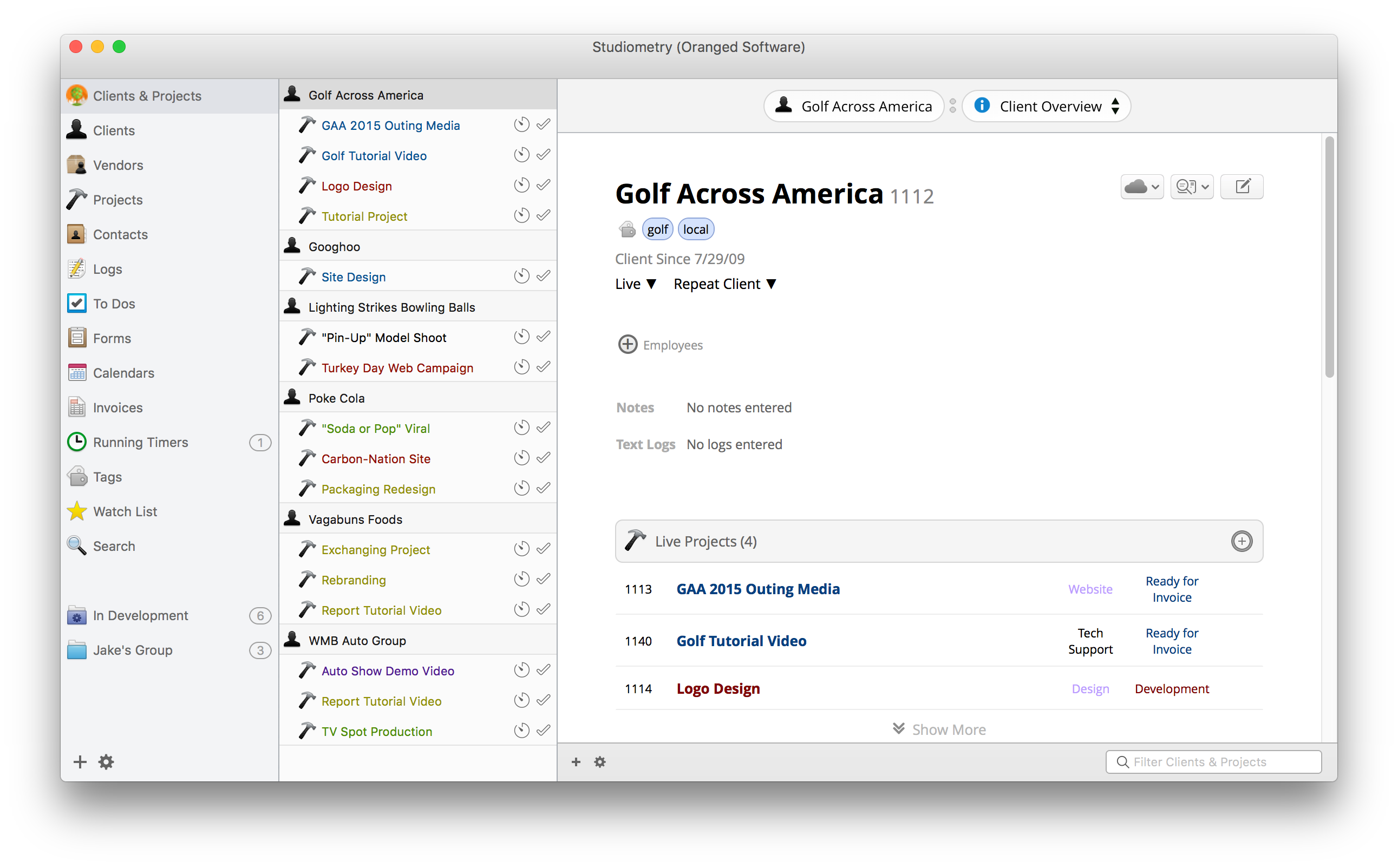 Studiometry for Mac OS X full screenshot